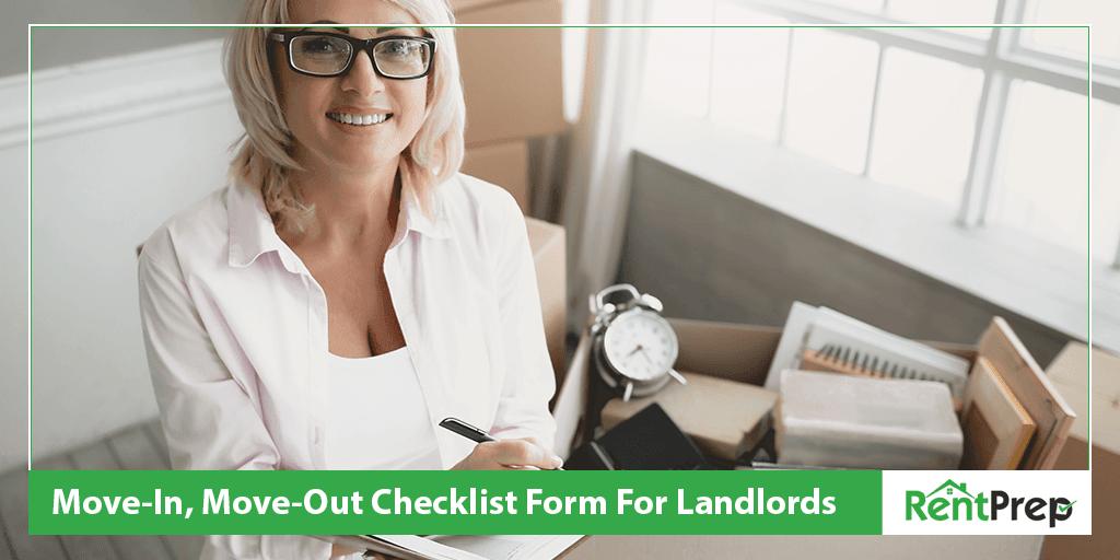 move in move out checklist